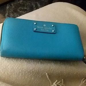 Sky Blue Kate Spade zippered wallet. NWOT